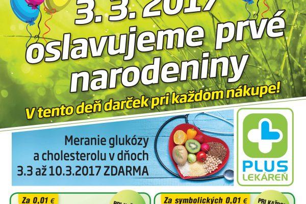 Mestská lekáreň Šurany leták – Marec, Apríl 2017