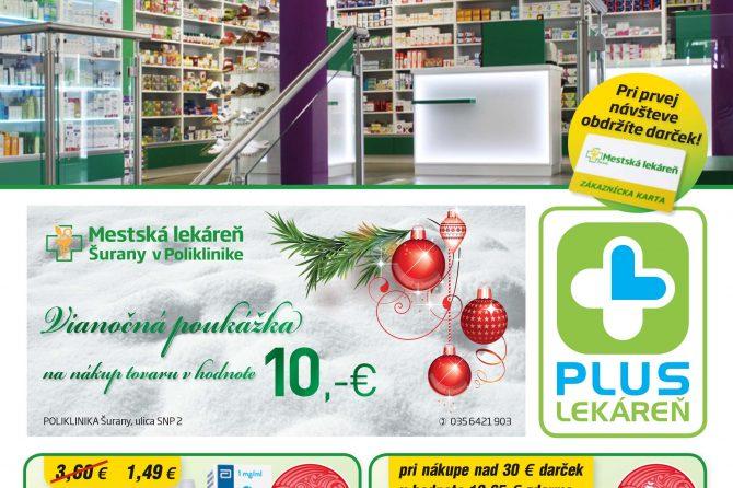 Mestská lekáreň Šurany leták – December 2016